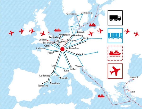 Map Of Europe Luxemburg.High Connectivity Single Window For Logistics Luxembourg
