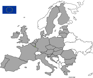 This picture is a map of Europe with the Member States of the European Union appearing in grey