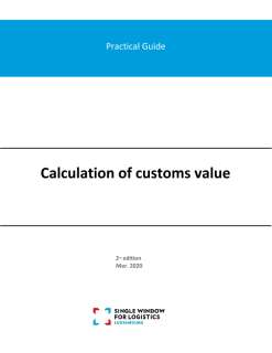 Practical guide: Calculation of customs value