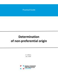 Practical guide: Determination of non-preferential origin