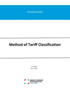Practical guide: Method of tariff classification