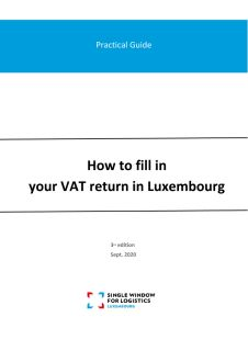 Practical guide: Fill in your VAT return